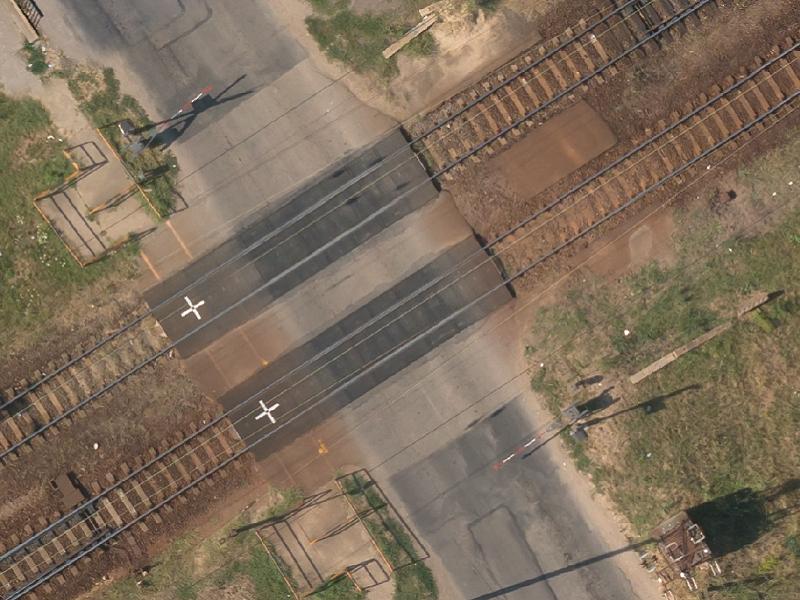 Vasúti átkelő sorompóval